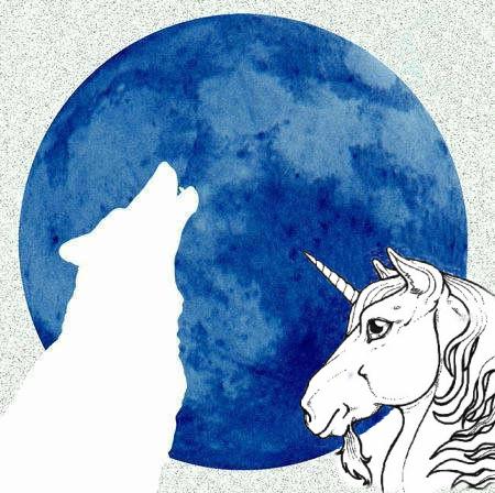 NEGATIF du loup & Licorne sur lune_01