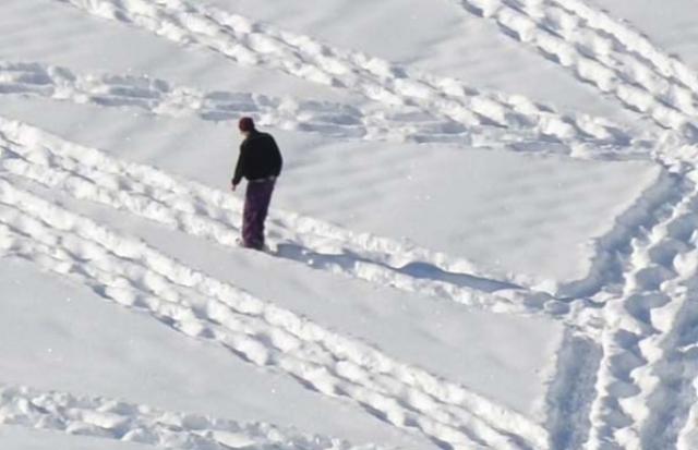 01-Dessin  sur neige