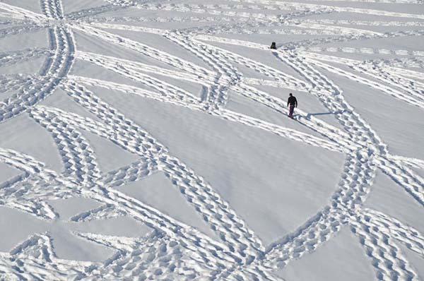 02-Dessin  sur neige