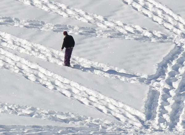 04-Dessin  sur neige