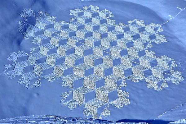 10-Dessin  sur neige
