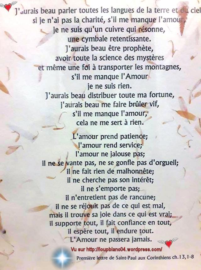 @mour 1ere Lettre de Saint Paul