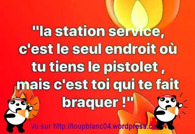 La station Service C Toi qui a le pistolet mais c Toi qui se fait braquer